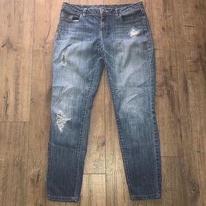 L.C. Lauren Conrad distressed skinny Jean